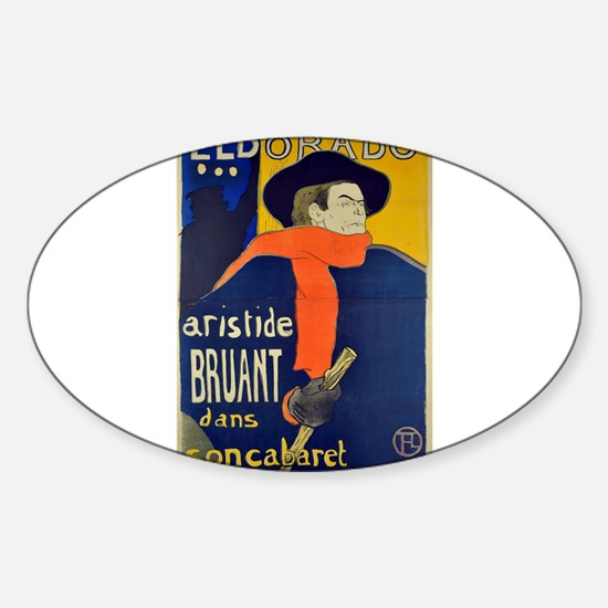 Aristide Bruant by Toulouse-Lautrec Decal