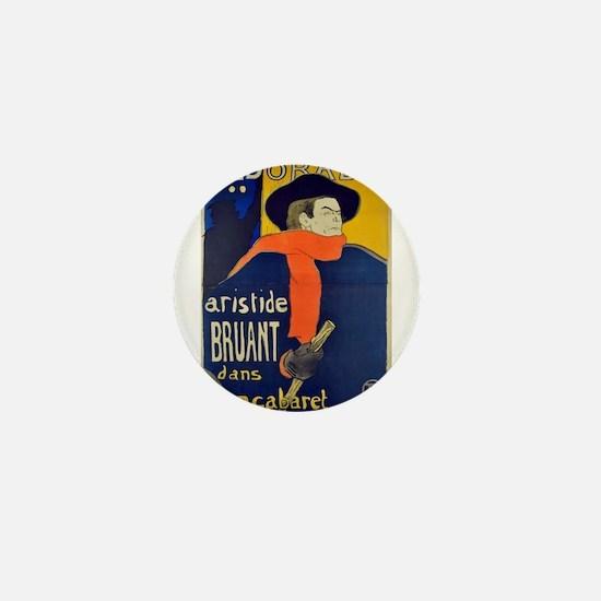Aristide Bruant by Toulouse-Lautrec Mini Button
