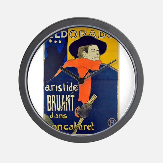 Aristide Bruant by Toulouse-Lautrec Wall Clock