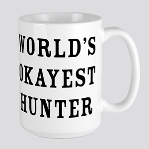 World's Okayest Hunter 15 oz Ceramic Large Mug