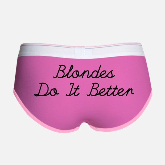 Blondes Do It Better Women's Boy Brief