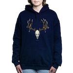 Mule deer skull mnt. Women's Hooded Sweatshirt