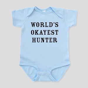 World's Okayest Hunter Baby Light Bodysuit