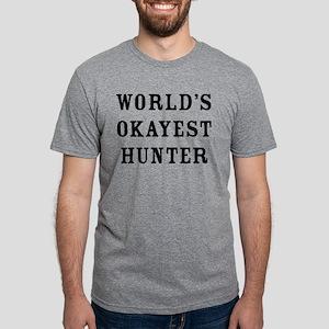 World's Okayest Hunter Mens Tri-blend T-Shirt