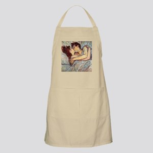 In Bed the Kiss by Toulouse-Lautrec Apron