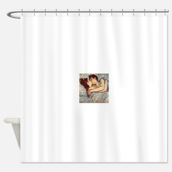 In Bed the Kiss by Toulouse-Lautrec Shower Curtain