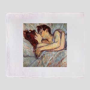 In Bed the Kiss by Toulouse-Lautrec Throw Blanket