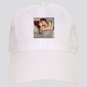 In Bed the Kiss by Toulouse-Lautrec Cap