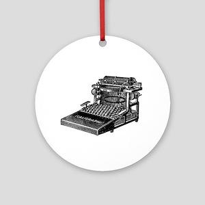 Vintage Typewriter Ornament (Round)
