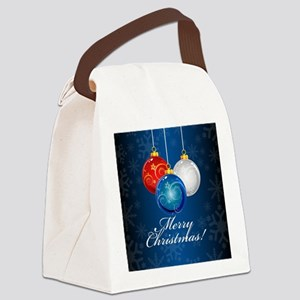 Patriotic Ornaments Merry Christm Canvas Lunch Bag