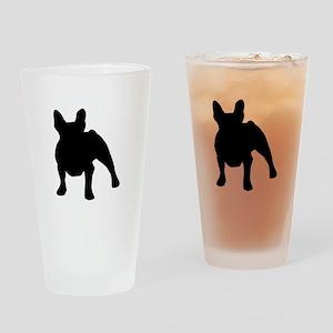 French Bulldog Shadow Drinking Glass