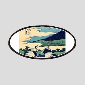 Japanese Crane Birds by Hokusai Patches