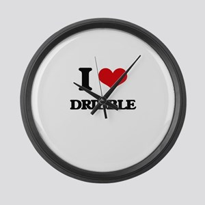 I Love Dribble Large Wall Clock