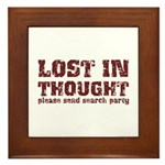 Lost in Thought Framed Tile