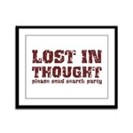 Lost in Thought Framed Panel Print