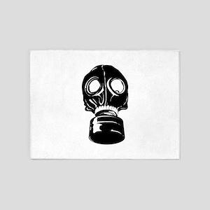 Gas Mask 5'x7'Area Rug