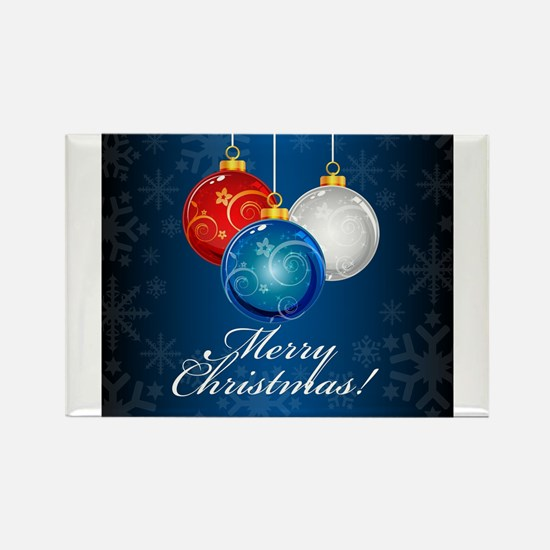 Patriotic Ornaments Merry Christmas Magnets