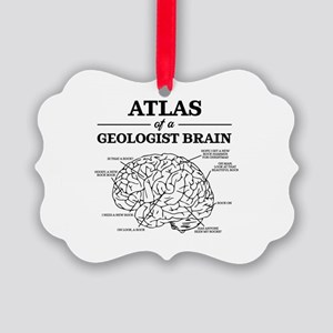 Atlas of a Geologist Brain Picture Ornament