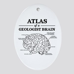 Atlas of a Geologist Brain Oval Ornament