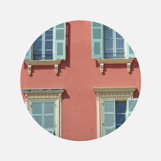 """Shuttered windows in France 3.5"""" Button (100 pack)"""