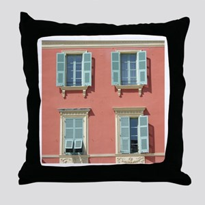 Shuttered windows in France Throw Pillow