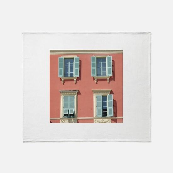 Shuttered windows in France Throw Blanket