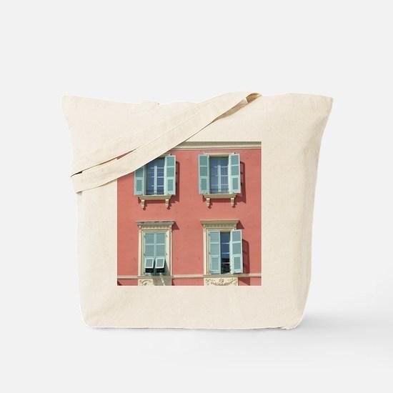 Shuttered windows in France Tote Bag