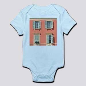 Shuttered windows in France Body Suit