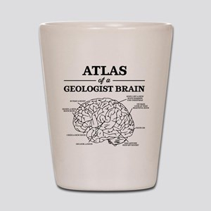 Atlas of a Geologist Brain Shot Glass