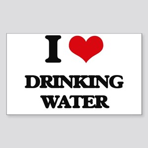 I Love Drinking Water Sticker