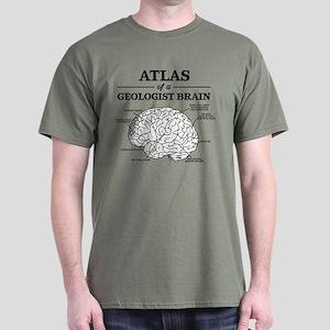Atlas of a Geologist Brain Dark T-Shirt