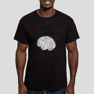 Atlas of a Geologist B Men's Fitted T-Shirt (dark)