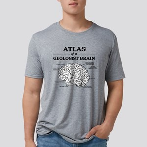 Atlas of a Geologist Brain Mens Tri-blend T-Shirt
