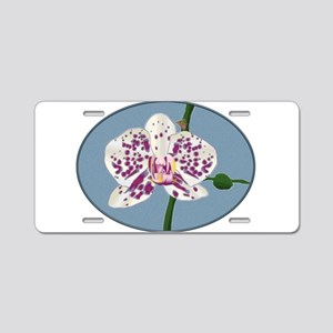 Purple and White Spotted Ph Aluminum License Plate