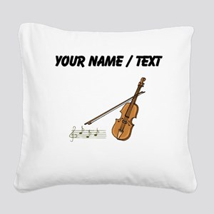 Custom Violin And Musical Notes Square Canvas Pill