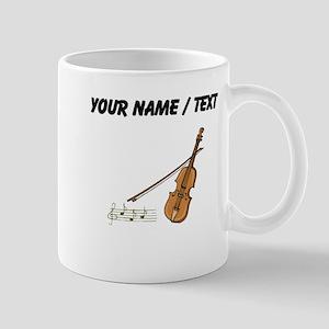 Custom Violin And Musical Notes Mugs