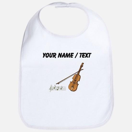 Custom Violin And Musical Notes Bib