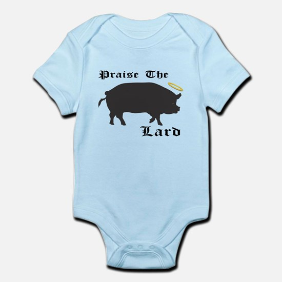 Praise the Lard funny bacon pig fat Body Suit