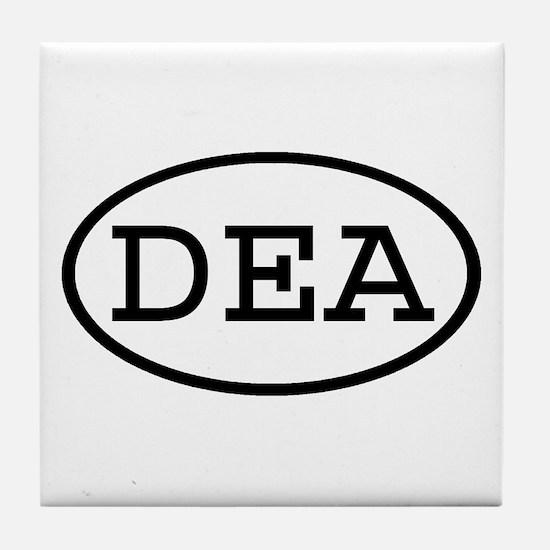 DEA Oval Tile Coaster