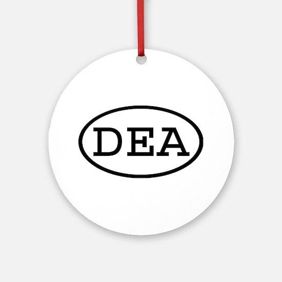 DEA Oval Ornament (Round)
