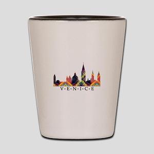 Mosaic Skyline of Venice Italy Shot Glass