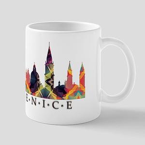 Mosaic Skyline of Venice Italy Mugs