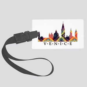 Mosaic Skyline of Venice Italy Large Luggage Tag