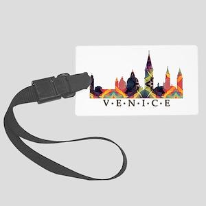 Mosaic Skyline of Venice Italy Large Luggage Tag