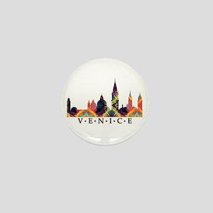 Mosaic Skyline of Venice Italy Mini Button