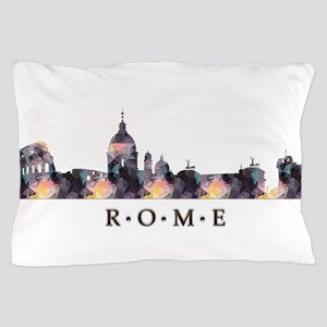 Mosaic Skyline of Rome Italy Pillow Case