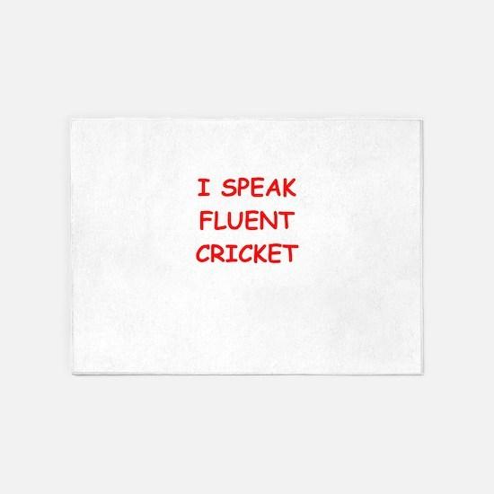 i love cricket 5'x7'Area Rug