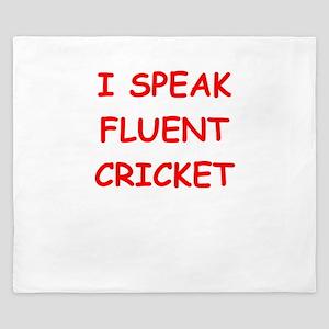 i love cricket King Duvet