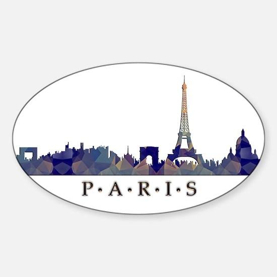 Mosaic Skyline of Paris France Decal