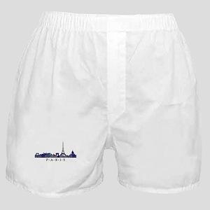 Mosaic Skyline of Paris France Boxer Shorts